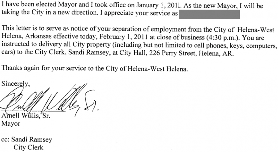 Separation Of Employment Letter Template Examples – Employee Separation Letter